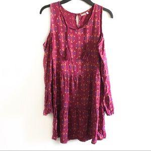 Mudd girls cold shoulder BoHo dress size 12
